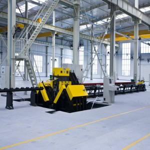 CNC Angle Steel pangeboran sarta nyirian Line pikeun diobral